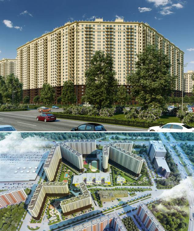 Development of 3D visualization of the residential complex