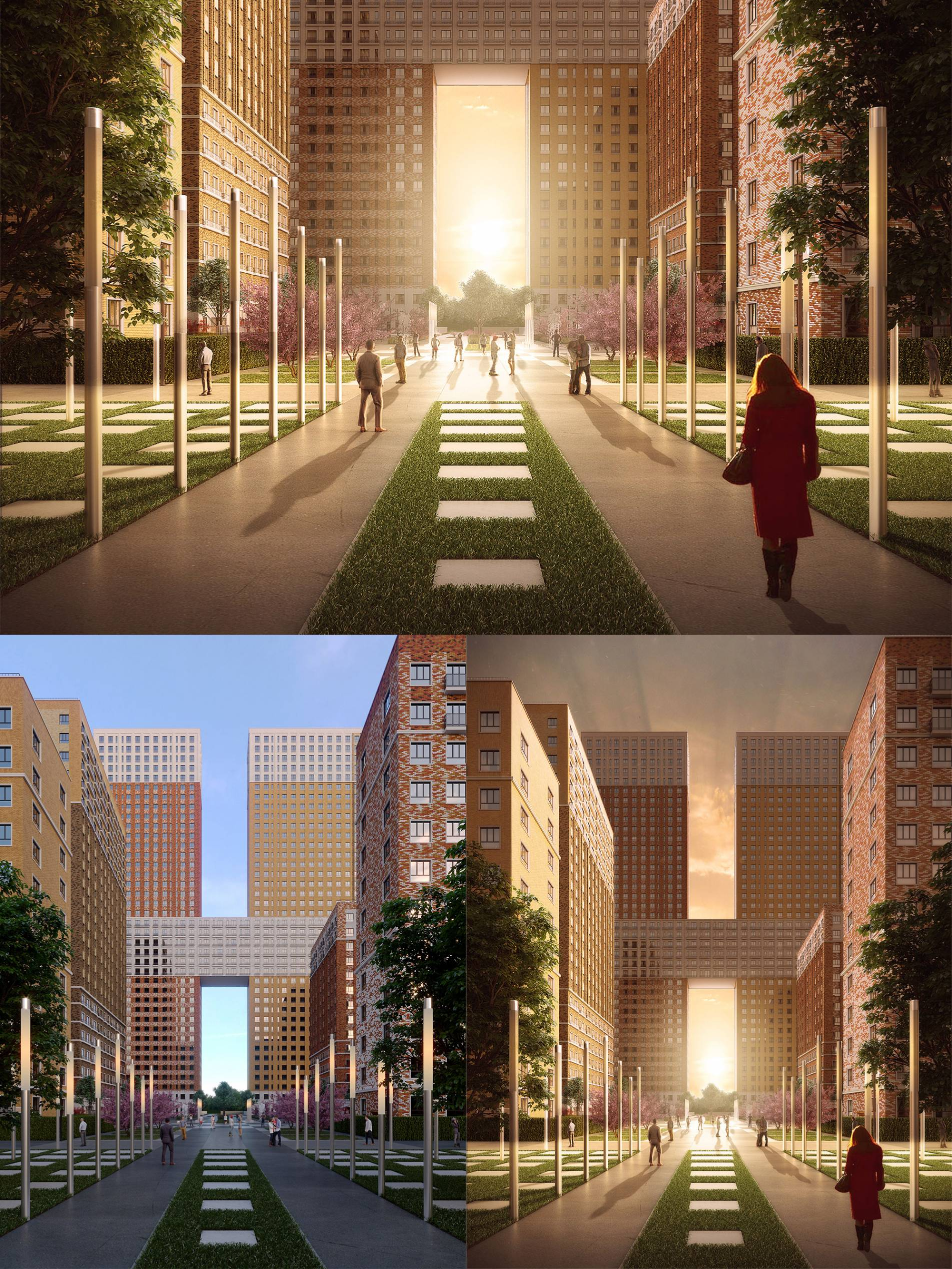 Development of artistic and atmospheric 3D visualization for residential complex